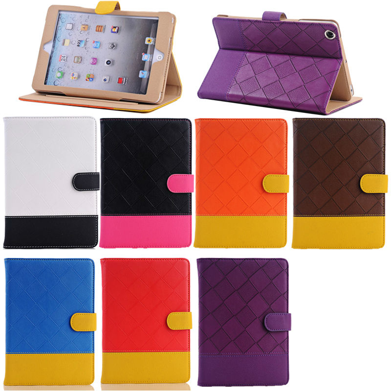 Couple Color Leather Case for apple ipad mini accessories