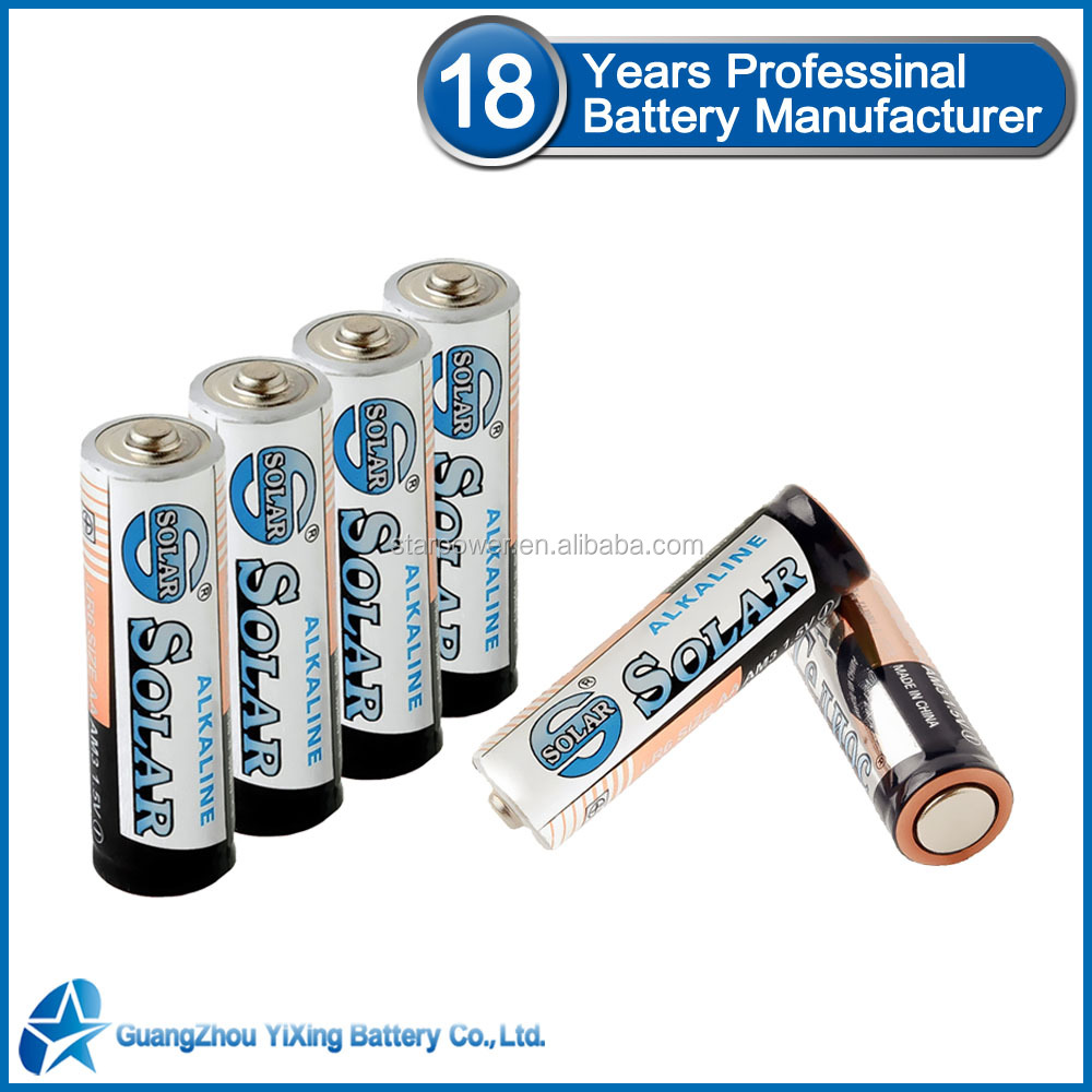 350 mintues Stable quality 1.5v aa am3 lr6 alkaline battery