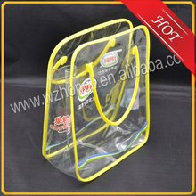 Promotional transparent plastic PVC gift bag with handle