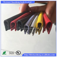 auto glass edge rubber/rubber car edge trim