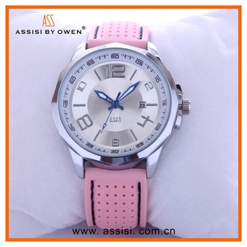 Fascinated watch collections Assisi design brand stainless steel case leather strap automatic mechanical watch
