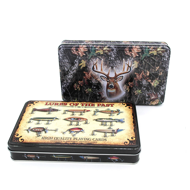 Rectangle custom printed tin box