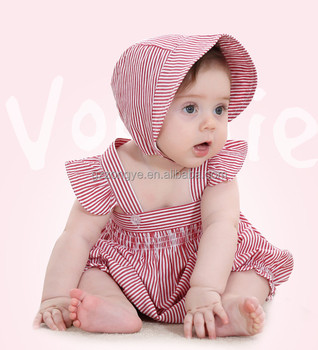 2017 latest design lovely soft 100% cotton baby walking wear summer baby jumpsuit from China factory