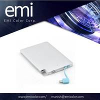 Ultra-thin Slim li-polymer battery 2500 mAh Power Bank mini credit card shape