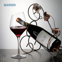 Sanzo 560ml transparent slanted crystal red wine glasses for party