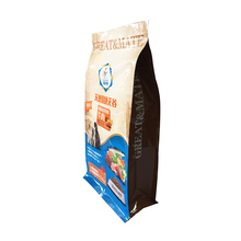 Custom Printing Flat Bottom Dried Snack / Food Grade Packaging Plastic Aluminum Foil Ziplock Bag