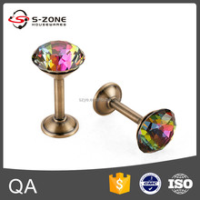 Luxury hotel project crystal drapery clip rings, curtain hooks with clips, best shower curtain rings