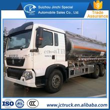 The Chinese market 315HP howo 6x4 Dangerous chemical liquid tanker truck wholesale price