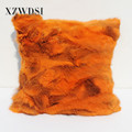 CX-D-17I Custom Patchwork Super Soft Cushion Fur Pillow For Home