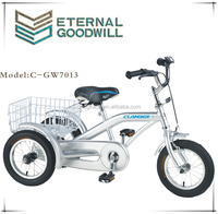 Children's tricycle GW7013 single speed cargo bike 12 inch three wheel bicycle for customers