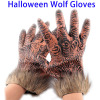 online shopping hand glove halloween mask promotion gift, halloween decoration Wool Horrific Wolf Glove