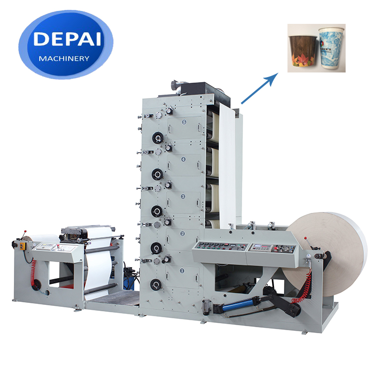DEPAI FPL850-5 sticker vinyl paper automatic label flexo printing printer machine