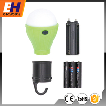 LED Bulb Camping Lantern, Carabiner, 3xAAA, Different Colors Available, Warm Light, Suitable for Promotion and Gift