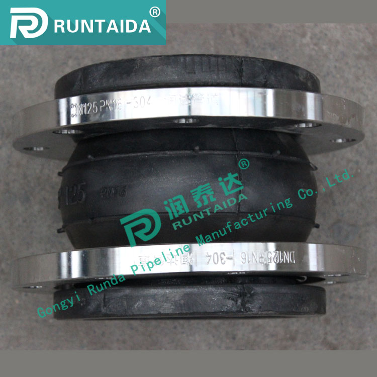316L stainless steel single sphere hypalon rubber expansion joint