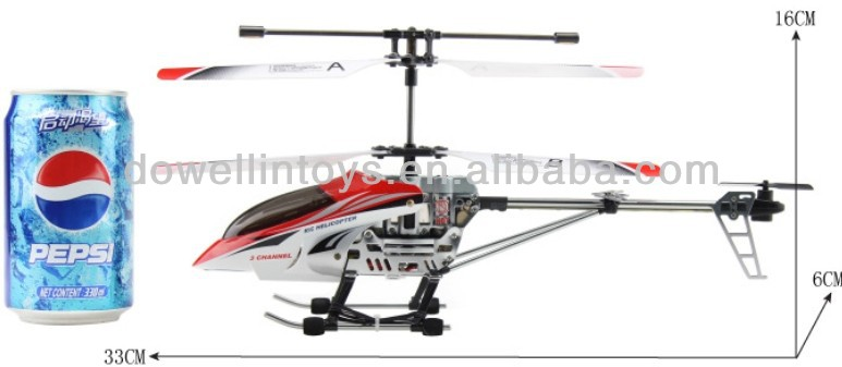 3 Channel Metal Remote Control Helicopter with Gyro