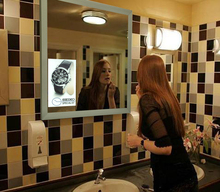 2016 Hottest Innovative Bathroom Advetising Mirror Smart Magic Mirror Advertisements