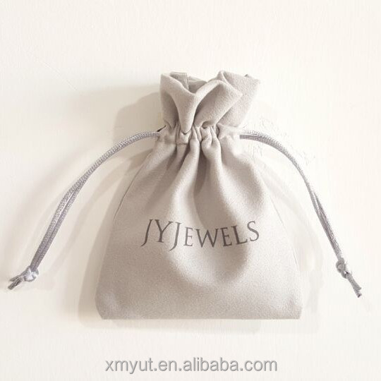 custom suede jewelry pouch/jewelry bag with logo