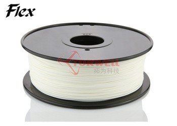 1.75 / 3mm TPE Flexible plastic 3D Printer Filament for FDM 3D printer, similar with Ninja Flex