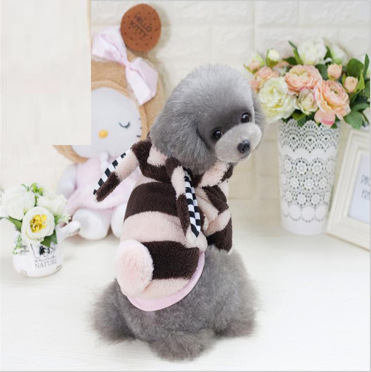 Designer Dogs Warm Fleece Four Legs Clothes Cute Cartoon Rabbit Costume For Puppy <strong>Pets</strong>