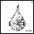 Hot Sale New Desgin Silver 925 Waterdrop Pearl Cage Locket Pendant Jewelry