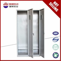 metal steel locker with clothes closet and hanger, shelf, mirror