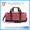 Red Two Tone Nylon Classic Holdall Travel Bag