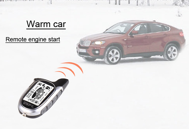 Universial two way remote engine start stop magic car alarm system