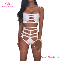 Big stock white hollow out sexy exotic bikini women swimsuit