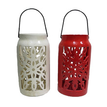 Outdoor Beautiful Ceramic Garden Candle Lantern