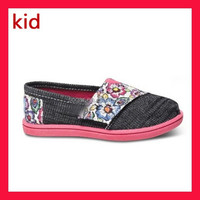 Wholesale Baby Canvas Casual Shoes For Kids 0-4 Years Old Beautiful Flower Design
