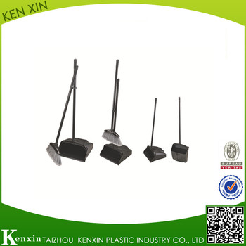 Eco-friendly hot selling sweeping plastic broom and dustpan with long handle