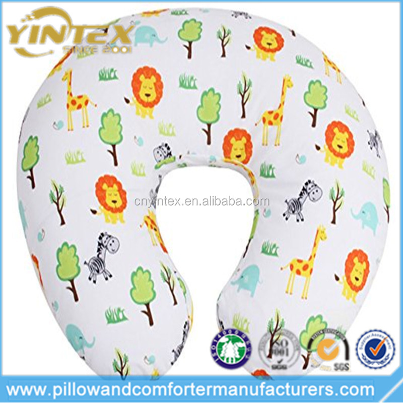 Cute Peaceful Jungle Printed Cotton Baby Breastfeeding Nursing Pillow & Positioner for Baby