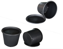 1 3 5 Gallon Premium Black Plastic Nursery Plant Container Garden Planter Pots for Plant Growing