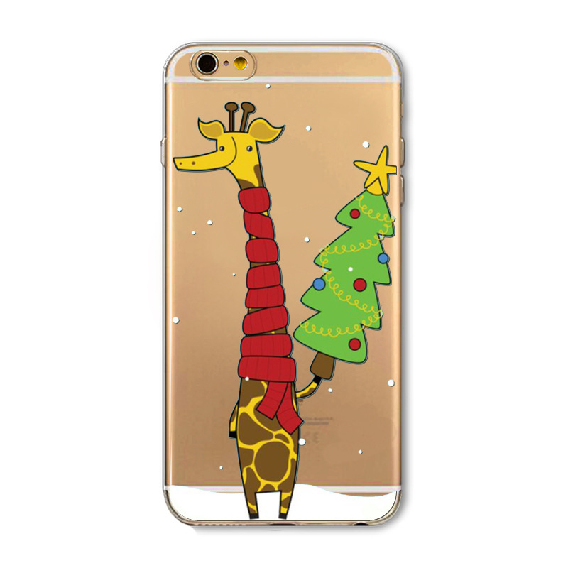 factory price merry christmas santa claus Painting tpu for iphone 5 5s 6 6s back cover soft Stained cell phone case