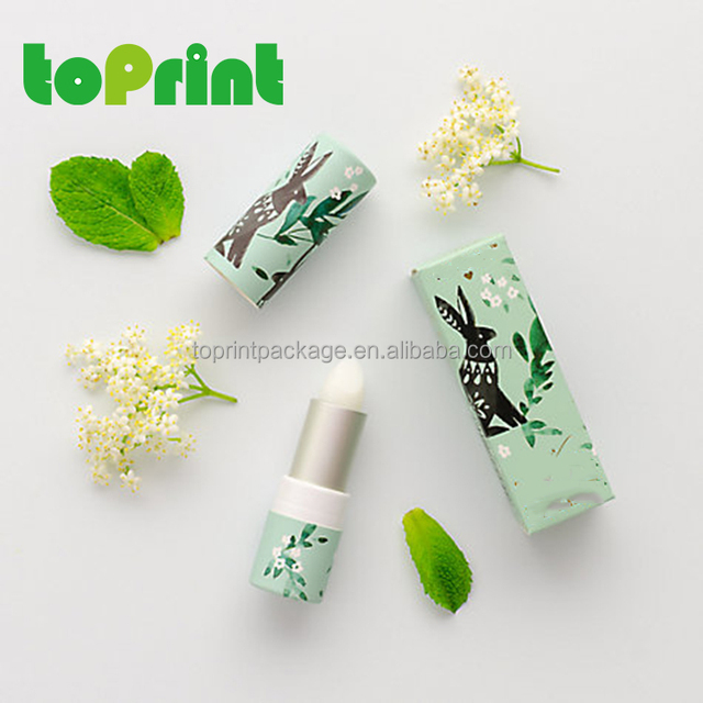 cheapest simple cardboard eco friendly lip gloss tubes packaging paper tube with screw up plastic inner tube