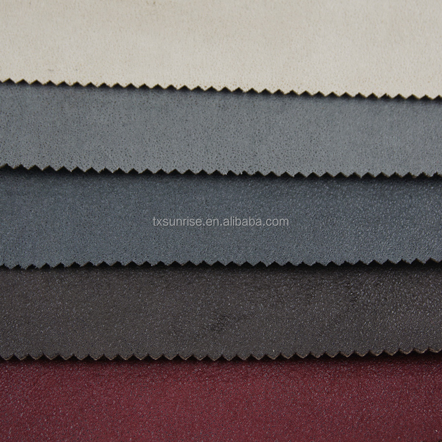 100 poly suede fabrics for sofa, 100 polyester stamped suede sofa fabric, faux suede fabric
