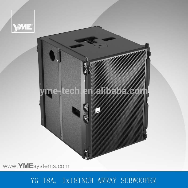 YG 18A active bass 18 inch pro line array speaker for outdoor events