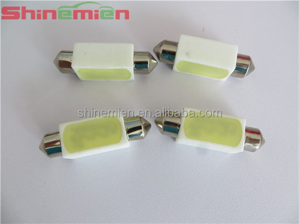 Festoon 39mm 3W 200lm COB LED Ceramic White Car Reading Light / Roof Lamp / Dome Bulb 12V / 2 4V
