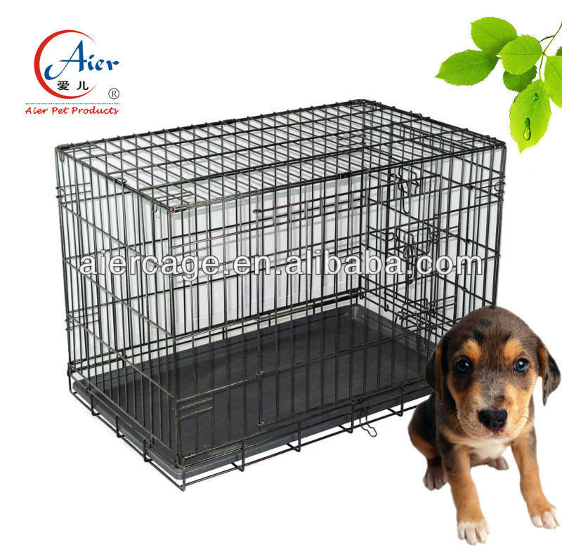 folding iron wire dog kennel cage