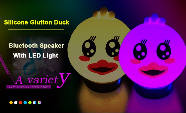 2017 new glutton duck wireless app bluetooth speaker with led light