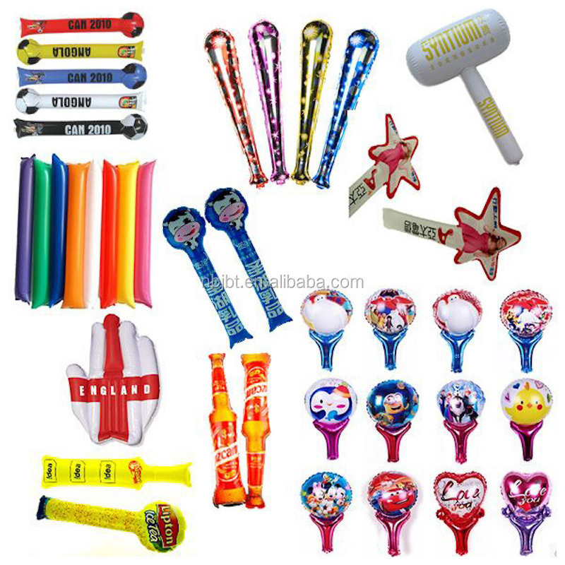 Promotion Customized Plastic Inflatable Noise Cheering Stick,bang bang stick