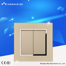 New hot BS standard Hotel design 2 gang 2way electric wall switch