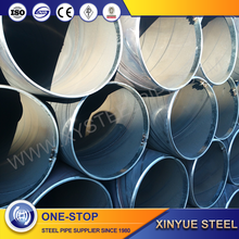 100mm diameter welded spiral steel pipe with large diameter china manufacture