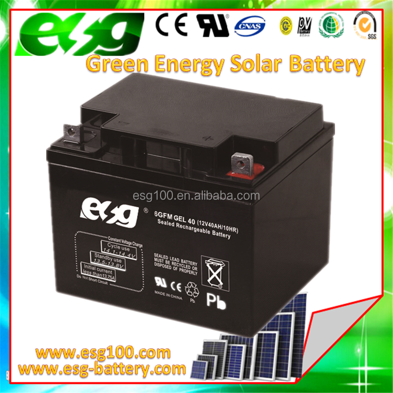UPS Battery12v 40Aah gel battery Vrla Battery for home and outdoor use