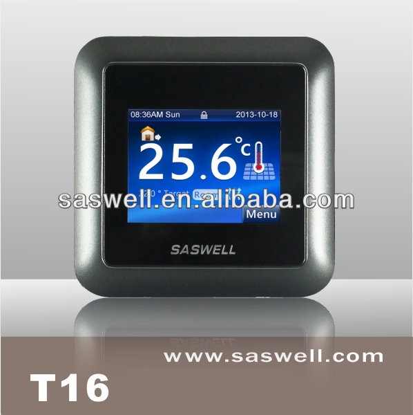 16A LCD Touch Screen Heating Room Thermostat for floor heating