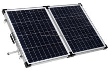 100W 12V Poly Folding Tempered Glass PV Solar panel with Aluminum Frame