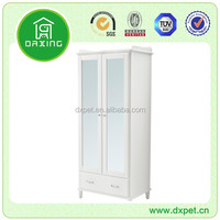 Wooden white clothes cabinet small