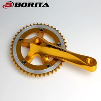 Borita OEM Colorful Single Speed High Durable Crank For Fixie Bike