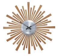 Sunshape nature bamboo wood home decoration wall clock