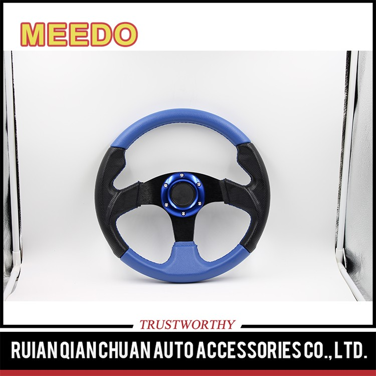 Racing kart steering wheels,leather oem steering wheel,350mm steering wheel